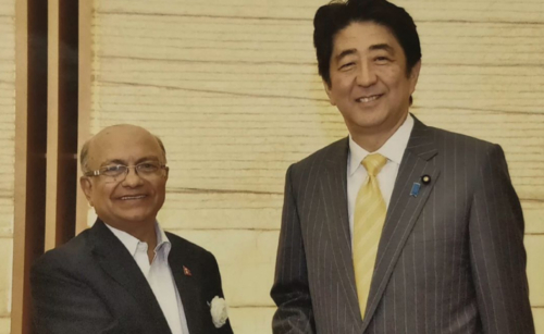 With Japan PM Shinzo Abe